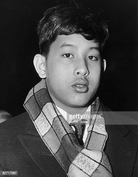 Crown Prince Vajiralongkorn of Thailand arrives at London Airport 10th January 1966 He is in England to attend two terms at King's Mead Preparatory...