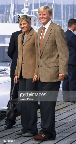 Crown Prince Willem Alexander Crown Princess Maxima Of Holland Take A Boat Trip Around Oslo Prior To The Wedding Of Crown Prince Haakon MetteMarit