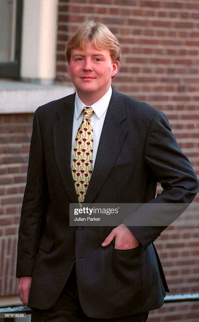 Crown Prince Willem Alexander of The Netherlands attends a Church Service at Westerkerk and then a trip and Lunch on a Paddle Steamer in Amsterdam as...