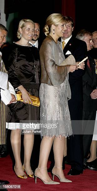Crown Prince WillemAlexander Crown Princess Maxima Of Holland Crown Princess MetteMarit Of Norway Attend The Royal Barge Procession At The Royal Navy...