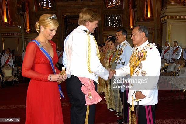 Crown Prince WillemAlexander Crown Princess Maxima Of Holland Foreign Monarchs Express Their Best Wishes To His Majesty At The Anda Samakhom Throne...