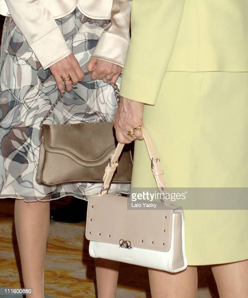 Crown Princess Letizia and Queen Sofia during Crown Prince Felipe and Crown Princess Letizia of Spain Preside at a Literary Lunch in Madrid April 20...