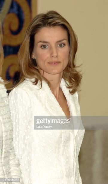 Crown Princess Letizia during Spanish National Sports Awards Ceremony 2006 at El Pardo Palace in Madrid Spain