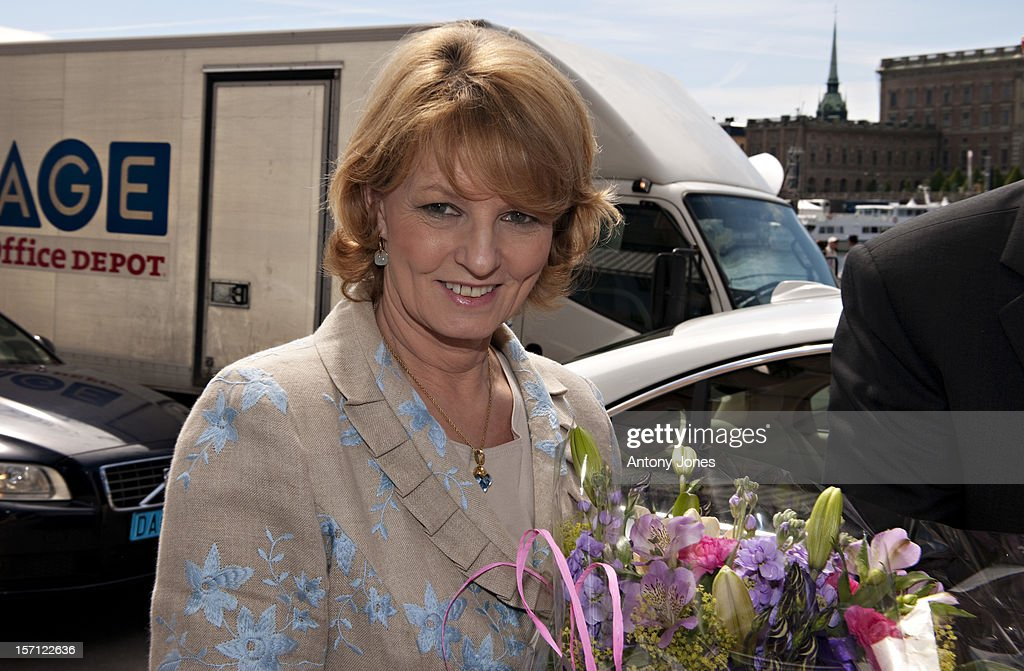 Crown Princess Margarita Of Romania Arrives At The Grand Hotel Before The Wedding Of Crown Princess Victoria Of Sweden And Daniel Westling In Stockholm, Sweden..