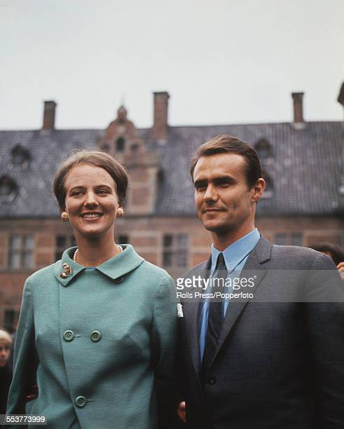 Crown Princess Margrethe of Denmark and her husband Henri de Laborde de Monpezat pictured together in 1970 Margrethe would become Queen of Denmark in...