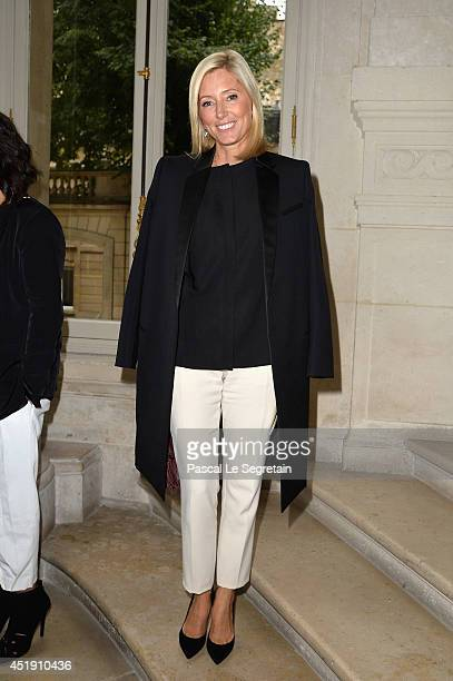 Crown Princess Marie Chantal of Greece attends the Valentino show as part of Paris Fashion Week Haute Couture Fall/Winter 20142015 at Hotel Salomon...