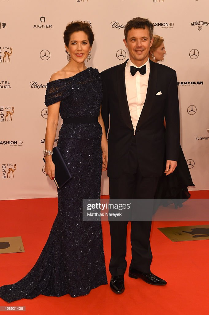 Crown Princess Mary and Crown Prince Frederik arrive at the Bambi Awards 2014 on November 13, 2014 in Berlin, Germany.