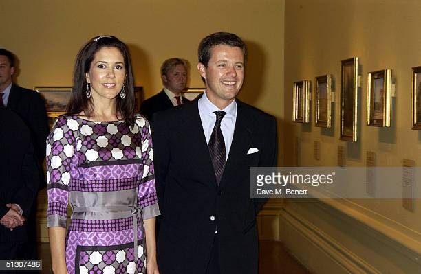 Crown Princess Mary and Crown Prince Frederik attend a private view and reception for a new show 'Ancient Art To PostImpressionism' at the Royal...