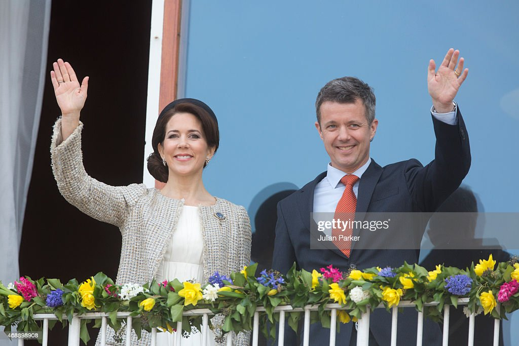 Crown Princess Mary and Crown <a gi-track='captionPersonalityLinkClicked' href=/galleries/search?phrase=Prince+Frederik+of+Denmark&family=editorial&specificpeople=171286 ng-click='$event.stopPropagation()'>Prince Frederik of Denmark</a> attend a lunch reception to mark the forthcoming 75th Birthday of the Danish Queen at Aarhus City Hall on April 8, 2015 in Aarhus, Denmark.