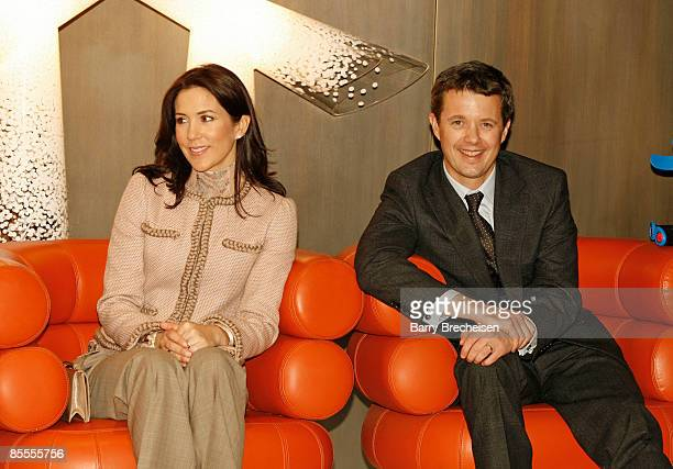 Crown Princess Mary and Crown Prince Frederik of Denmark visit the ''Danish Design'' event on March 22 2009 in Chicago Illinois