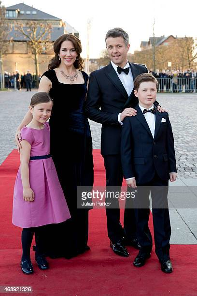 Crown Princess Mary and Crown Prince Frederik of Denmark with their children Princess Isabella and Prince Christian attend a Gala Night to mark the...