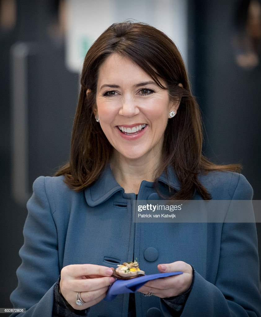 Crown Princess Mary attends a cooking workshop at a hospitality school on day two of the Icelandic state visit on day two of the Icelandic state visit on January 25, 2017 in Copenhagen, Denmark.