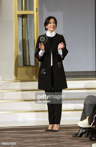 Crown Princess Mary during the prize presentation at 'Designer's Nest' award show for young promising designer's at Copenhagen Fashion Week...
