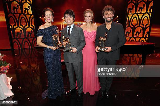 Crown Princess Mary Elisabeth of Denmark and Pianist Lang Lang Nina Eichinger and Jonas Kaufmann during the Bambi Awards 2014 show on November 13...