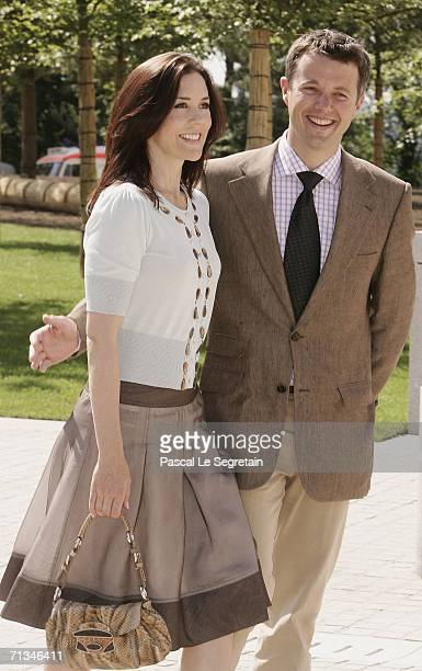 Crown Princess Mary of Denmark and Crown Prince Frederik of Denmark attend the inauguration of the Grand Duke Jean Modern Art Museum as part of the...