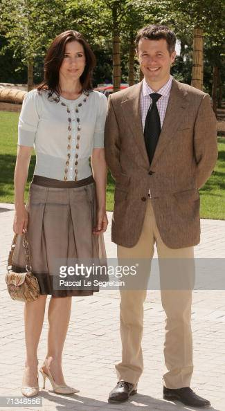 Crown Princess Mary of Denmark and Crown Prince Frederik of Denmark attend the inauguration of the Grand Duke Jean Modern Art Museum on July 1 2006...