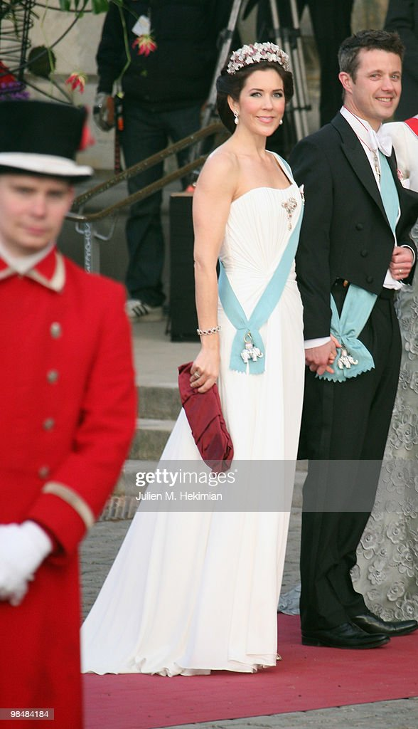 Crown Princess Mary of Denmark and Crown Prince Frederik of Denmark attend the Gala Performance in celebration of Queen Margrethe's 70th Birthday on April 15, 2010 in Copenhagen, Denmark.