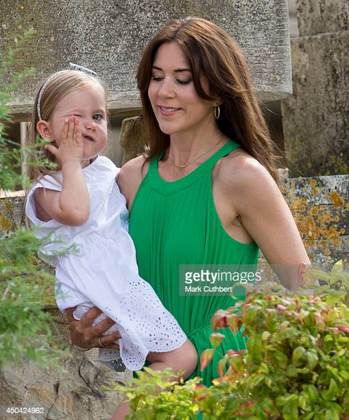 Crown Princess Mary of Denmark and Princess Josephine of Denmark attending a Photocall at Chateau de Cayx on June 11 2014 in Luzech France
