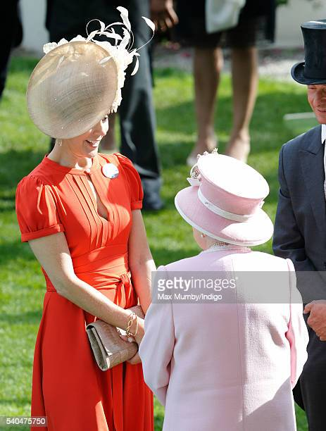 Crown Princess Mary of Denmark and Queen Elizabeth II attend day 2 of Royal Ascot at Ascot Racecourse on June 15 2016 in Ascot England
