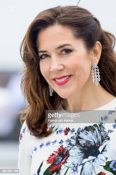 Crown Princess Mary of Denmark arrive at the Opera House on the ocassion of the celebration of King Harald and Queen Sonja of Norway 80th birthdays...