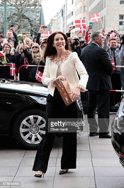 Crown Princess Mary of Denmark arrives at the town hall on May 19 2015 in Hamburg Germany