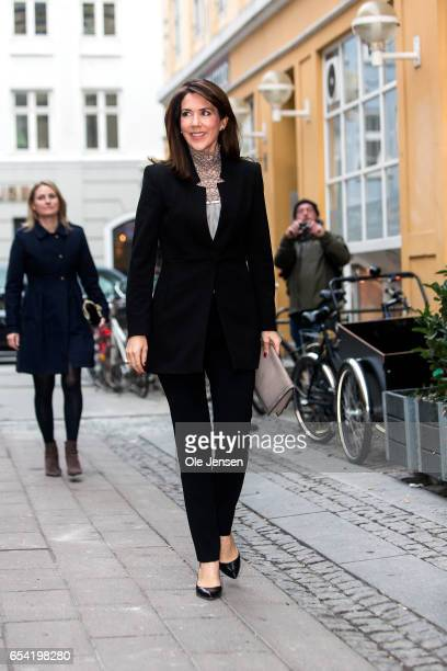 Crown Princess Mary of Denmark arrives at the world premiere of the documentary 'Jaha's Promise' in the Grand Theatre during the opening of...
