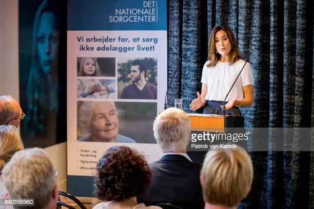 Crown Princess Mary of Denmark attend the opening of the National Care Center on August 29 2017 in Copenhagen Denmark