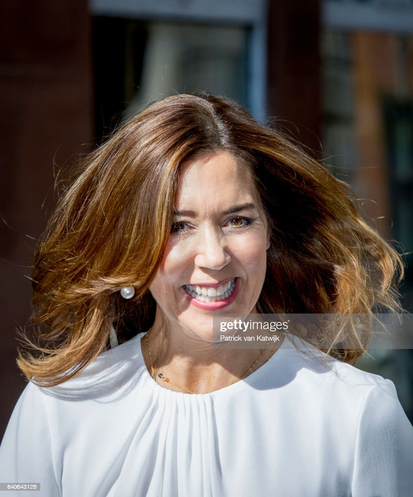Crown Princess Mary of Denmark attend the opening of the National Care Center on August 29, 2017 in Copenhagen, Denmark.