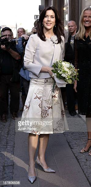 Crown Princess Mary Of Denmark Attends A Cocktail Evening At Max Mara In Copenhagen As Part Of The Hans Christian Andersen Bicentennial Celebrations