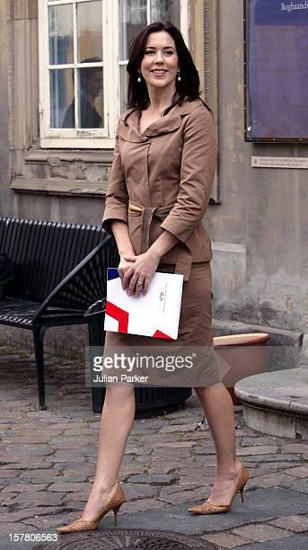Crown Princess Mary Of Denmark Attends A 'Danish Fashion In North America' Seminar At The Danish Museum Of Decorative Art In Copenhagen