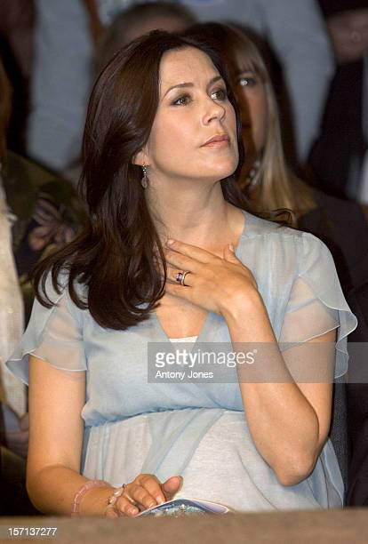 Crown Princess Mary Of Denmark Attends A Fashion Show At The Cph Vision In Oksnehallen