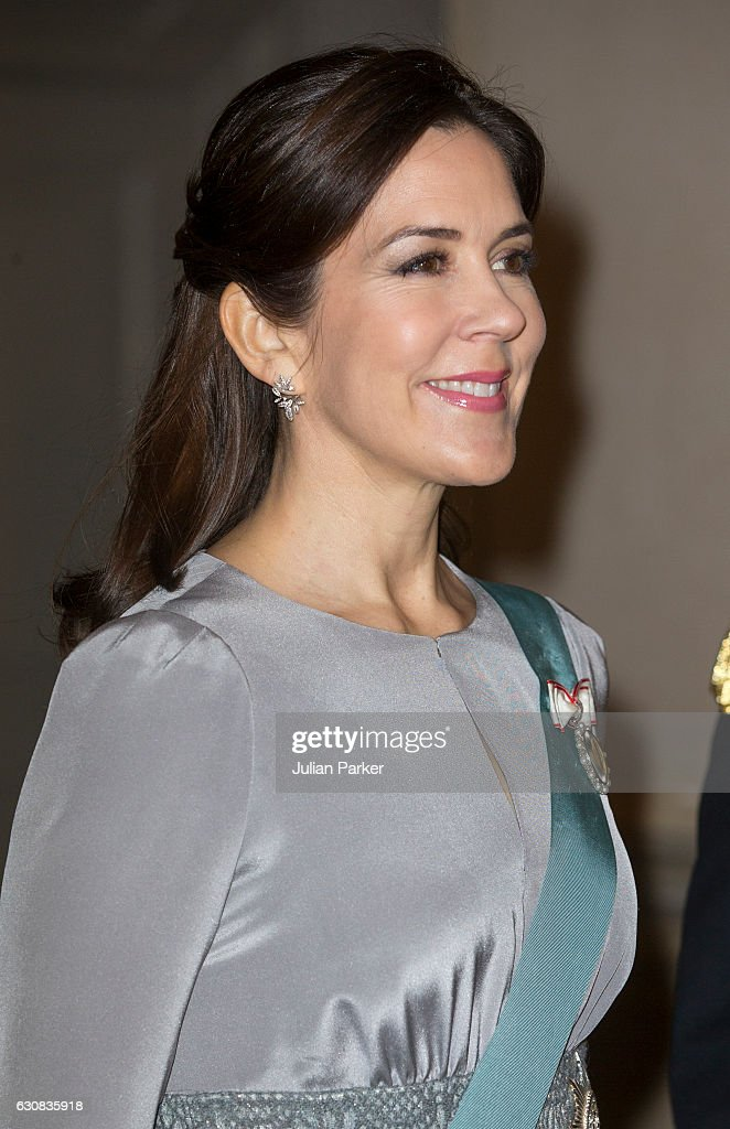 Crown Princess Mary of Denmark attends a New Year's Levee held by Queen Margrethe of Denmark for Diplomats at Christiansborg Palace on January 3, 2017 in Copenhagen, Denmark.