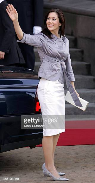 Crown Princess Mary Of Denmark Attends A Reception At Copenhagen Town Hall During The Hans Christian Andersen 200Th Anniversary Celebrations