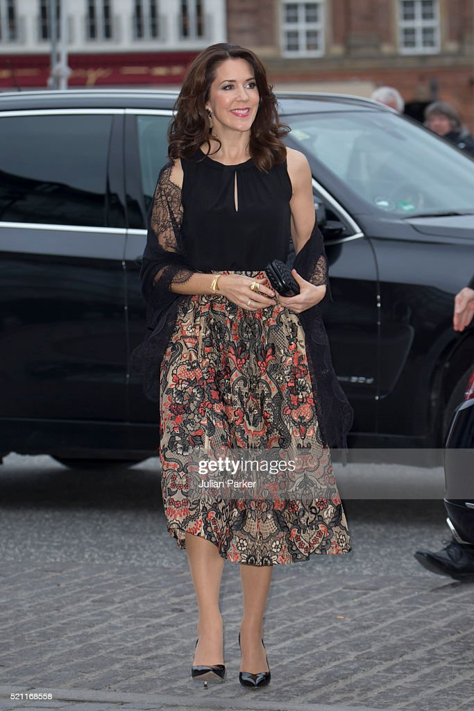 Crown Princess Mary of Denmark attends a return dinner at The Hotel D'Angleterre, on the second day of a State visit of the President of The United Mexican States, President Enrique Pena Nieto, and his wife Angelica Rivera to Denmark. on April 14, 2016, in Copenhagen, Denmark