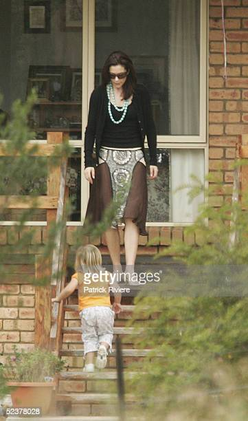 Crown Princess Mary of Denmark attends her cousin Alison Donaldson's wedding March 12 2005 in Swansea Australia Crown Prince Frederik and Princess...