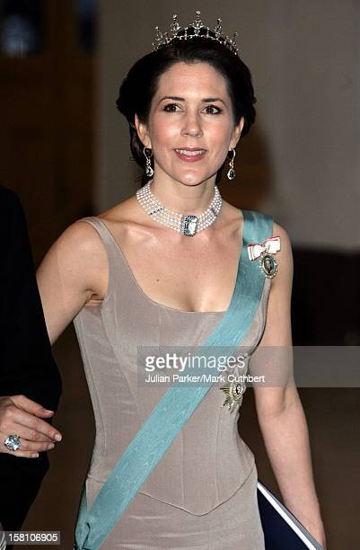 Crown Princess Mary Of Denmark Attends King Carl Gustaf Of Sweden'S 60Th Birthday CelebrationsGala Dinner At The Royal Palace Stockholm