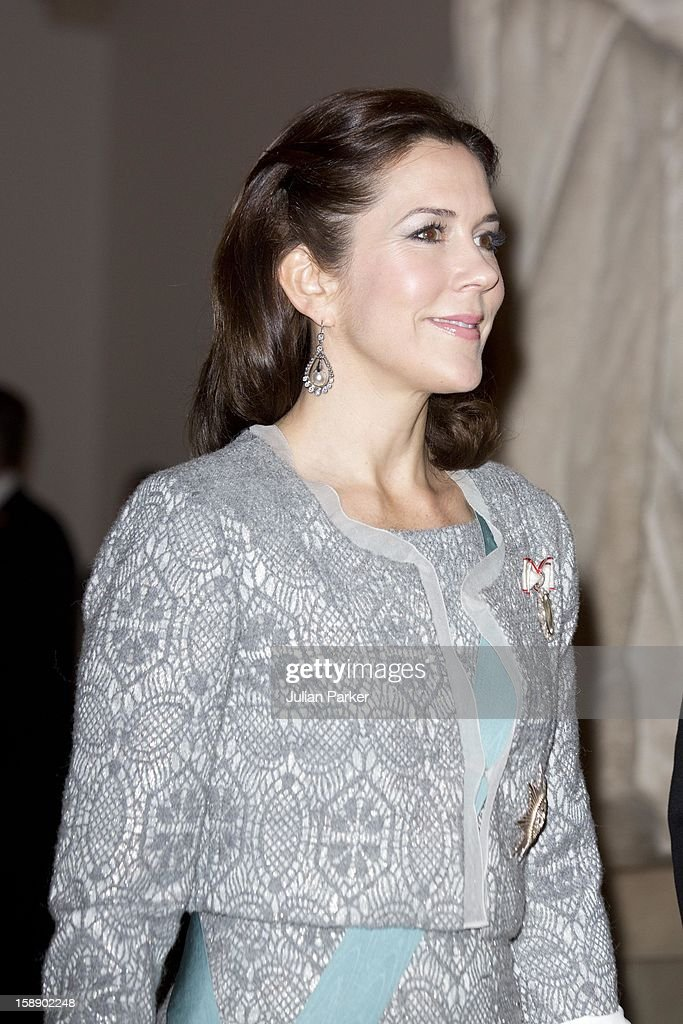 Crown Princess Mary of Denmark attends New Year's Levee held by Queen Margrethe of Denmark, for Diplomats,at Christiansborg Palace on January 3, 2013 in Copenhagen, Denmark.