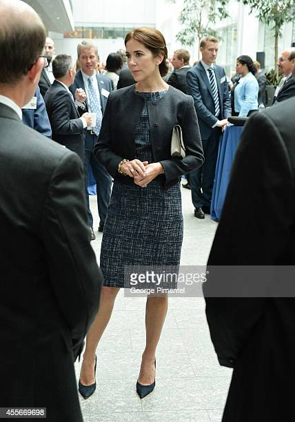 Crown Princess Mary Of Denmark attends official visit to Canada Day 2 at MARS Discovery District on September 18 2014 in Toronto Canada