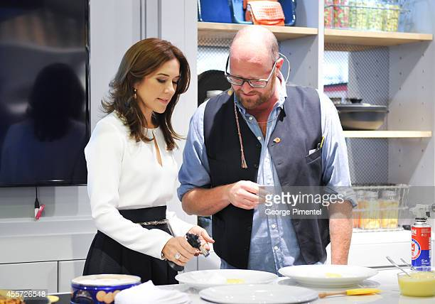 Crown Princess Mary Of Denmark attends official visit to Canada Day 3 at The Hudson's Bay on September 19 2014 in Toronto Canada