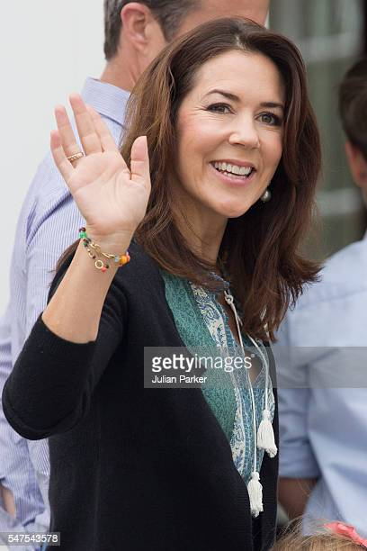 Crown Princess Mary of Denmark attends the annual summer photo call for The Danish Royal Family at Grasten Castle on July 15 2016 in Grasten Denmark