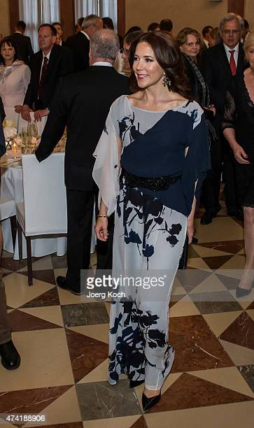 Crown Princess Mary of Denmark attends the Grand Dinner at the Residency during their visit in Germany on May 20 2015 in Munich Germany