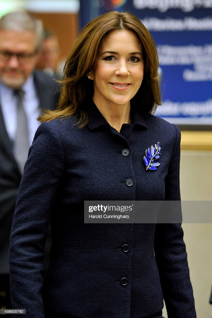 <a gi-track='captionPersonalityLinkClicked' href=/galleries/search?phrase=Crown+Princess+Mary+of+Denmark&family=editorial&specificpeople=158374 ng-click='$event.stopPropagation()'>Crown Princess Mary of Denmark</a> attends the regional review meeting of the status of women in the UNECE region 20 years after the Beijing platform for action held at the United Nations Office at Geneva on November 6, 2014 in Geneva, Switzerland.