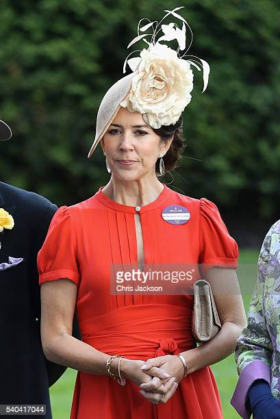 Crown Princess Mary of Denmark attends the second day of Royal Ascot at Ascot Racecourse on June 15 2016 in Ascot England