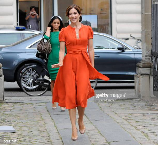 Crown Princess Mary of Denmark attends the St Petersburg Loye Prize and Medals ceremony at the Danish Museum of Art Design on August 24 2012 in...