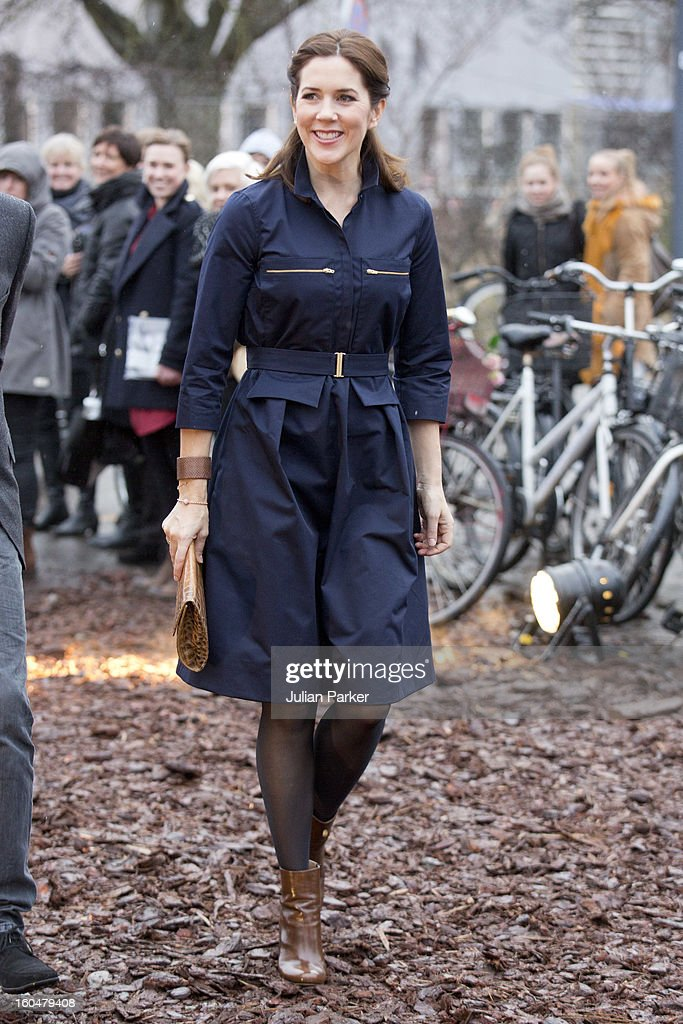 Crown Princess Mary of Denmark attends the The Designers Nest Award, and Show during Copenhagen Fashion Week at The Locomotive workshop, on February 1, 2013 in Copenhagen, Denmark.
