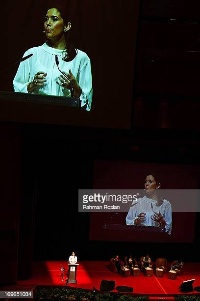 Crown Princess Mary of Denmark delivers her speech during the third day of The Women Deliver Conference on May 30 2013 in Kuala Lumpur Malaysia The...