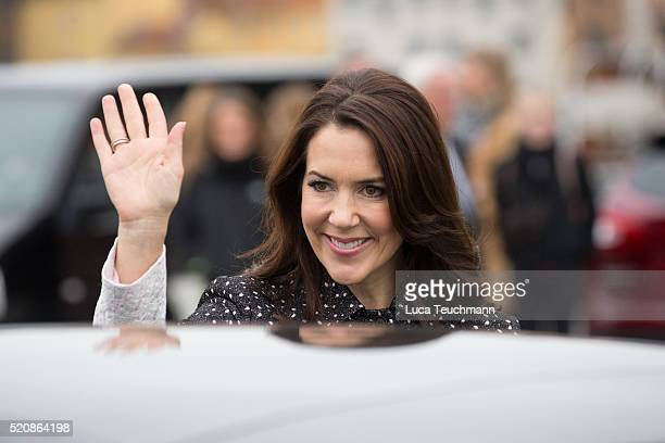 Crown Princess Mary of Denmark during a visit from the United Mexican States on April 13 2016 in Helsingor Denmark