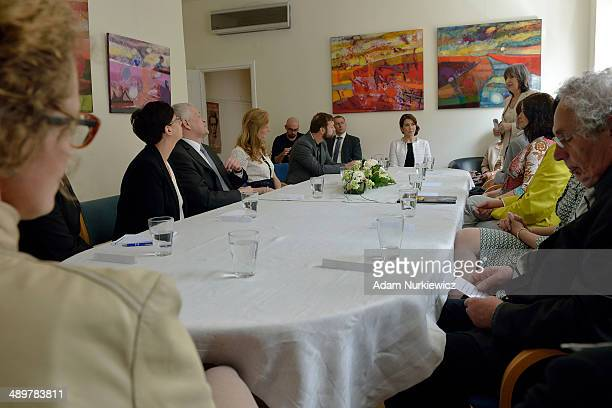 Crown Princess Mary of Denmark during her visit to the Danish Cultural Institute as part of her official visit on May 12 2014 in Warsaw Poland