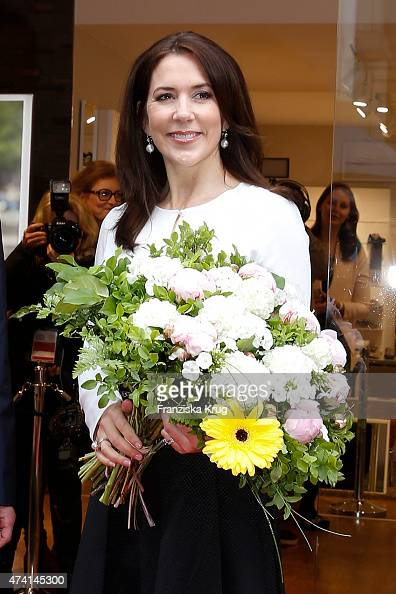 Crown Princess Mary of Denmark during the ECCO store opening on May 20 2015 in Munich Germany
