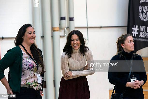 Crown Princess Mary of Denmark had a lot of fun during her participation in the excersises during The Mary Foundation conference for teachers about...